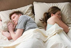 Snoring affects sleep